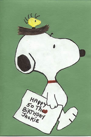 Snoopy birthday card by Jesse