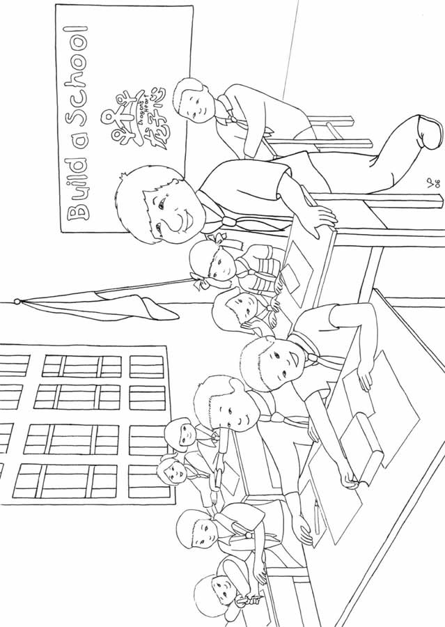 classroom coloring pages - photo#14