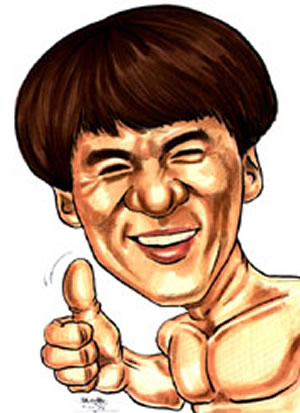 Jackie Chan Caricature...